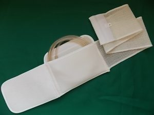 Abdominal Catheter Support Belt in open position