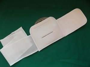 Abdominal Catheter Support Belt back view